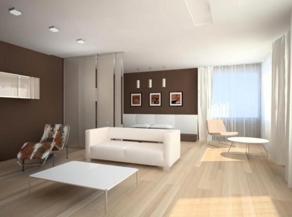 Гостиная светлая в стиле модерн