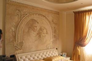 интерьер с венецианской штукатуркой