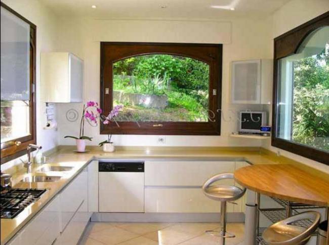 окна в кухне дизайн