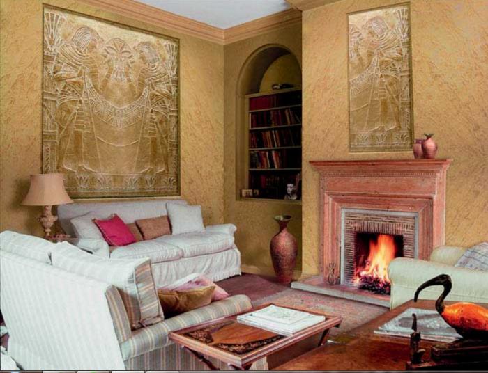 интерьер квартиры с венецианской штукатуркой