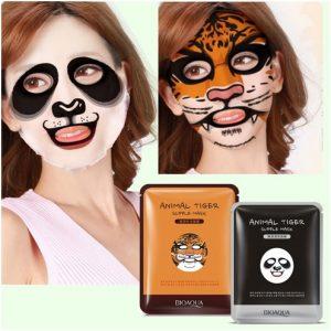 маска для лица с веселыми принтами