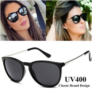 Солнечные очки в стиле кошачий глаз