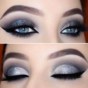 макияж смоки айс для голубых глаз